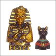 20070708|ご当地マグネット・エジプトのツタンカーメンと黒猫