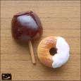 20080823|万国共通おやつ!ヴィンテージりんご飴とドーナツのマグネット