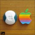 20081013|なつかしいApple6色リンゴと大福マウスのマグネット