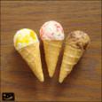 20091017|マーブル味!小さめコーンアイスのマグネット