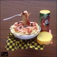 20100113|万国共通?フォークが浮いてるスパゲティのマグネット