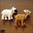 20100112|ハンドメイドの子ヒツジと子鹿のマグネット