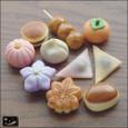 20100624|コロコロかわいい小さな和菓子のマグネット・秋編