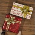 20101225|赤と白のヴィンテージクリスマスプレゼントのマグネット