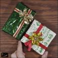 20101225|グリーンと白のヴィンテージクリスマスプレゼントのマグネット